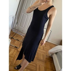 Tank asymmetrical maxi dress